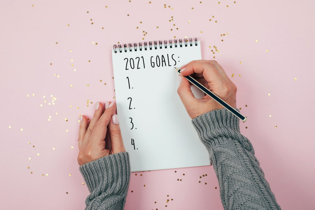 Happy New Year 2021. New Year's Resolutions